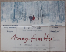 Away From Her, Original DS UK Quad Poster, Julie Christie, Gordon Pinsent, '06